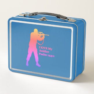 Gold und rosa Lötmittel snipper Metall Lunch Box