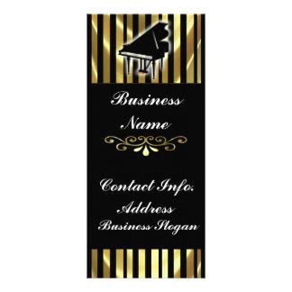 Gold und schwarze Klavier-Gestell-Karten-Streifen Vollfarbige Werbekarte