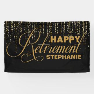 Gold und schwarzes Ruhestands-Party Banner