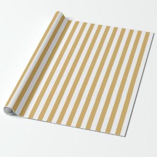 Gold und weiße Streifen Geschenkpapier
