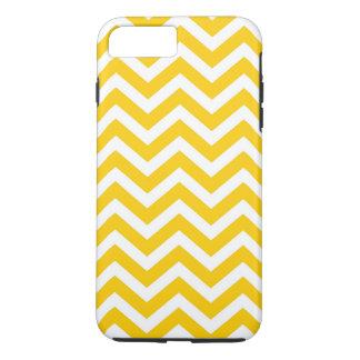 Gold und weißes Zickzack Muster iPhone 7 Plus Hülle