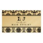 GOLDbarocke elegante Friseursalon-Visitenkarte