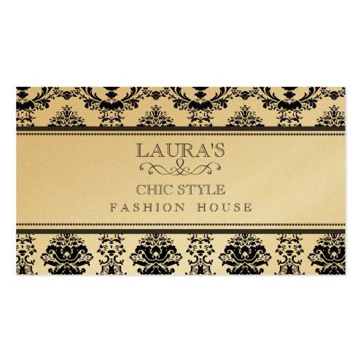 GOLDbarockes elegantes schickes stilvolles Mode-Ge Visitenkarten Vorlage