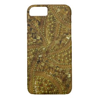 Goldbling Glitter u. -perlen iPhone 8/7 Hülle