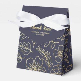 GoldblumenGastgeschenk Hochzeits-Kästen des Geschenkschachtel