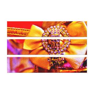 Goldbogen und -kristalle leinwanddruck