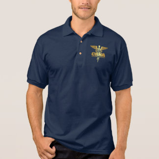 GoldCaduceus (CRNA) Polo Shirt