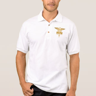 GoldCaduceus (RN) Poloshirt