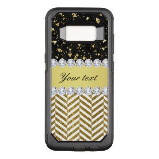 Goldconfetti-Dreieck-Sparren-Diamant Bling OtterBox Commuter Samsung Galaxy S8 Hülle