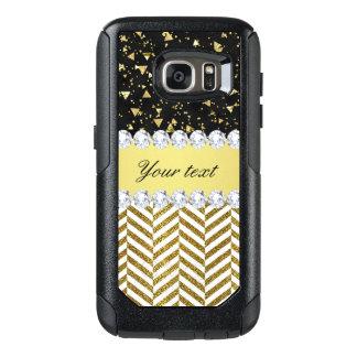 Goldconfetti-Dreieck-Sparren-Diamant Bling OtterBox Samsung Galaxy S7 Hülle