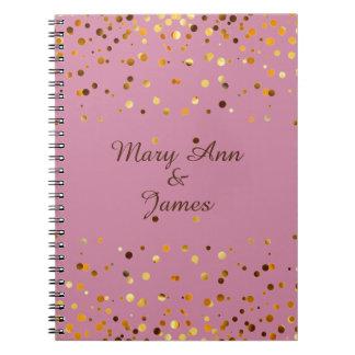 Goldconfetti-Glitter-Imitat-Folien-Rosahandwerk Notizbuch
