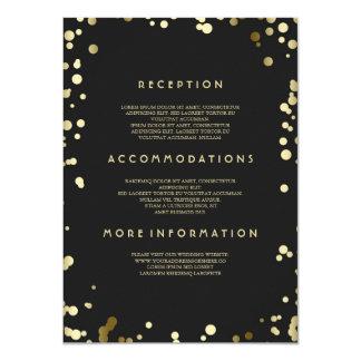 Goldconfetti-Hochzeits-Details - Informationen Karte