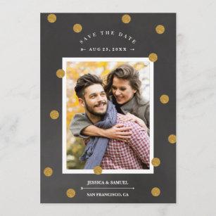 Goldconfetti-Imitatfolie Save the Date