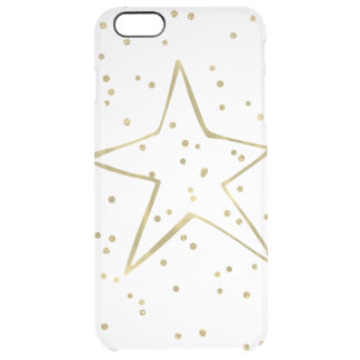 Goldconfetti-Stern Durchsichtige iPhone 6 Plus Hülle