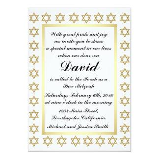 Golddavidsstern Bar/Schläger Mitzvah Einladung