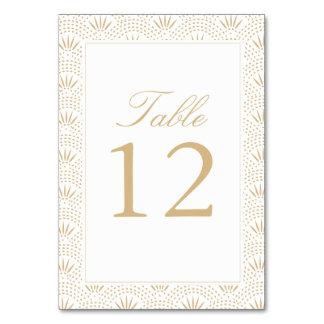 GoldDeko Seigaiha Tischnummer-Karten