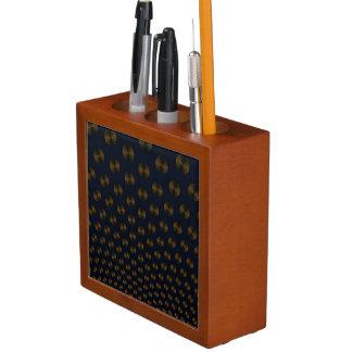 GoldDisc auf blauem Schreibtisch-Organisator Stifthalter