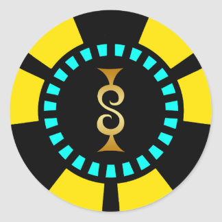 GOLDdollar-ZEICHEN-POKER-CHIP Runder Aufkleber