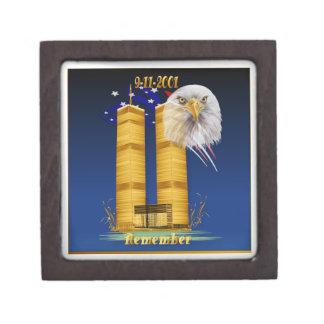 Golddoppeltürme, Flaggen-Prämien-Geschenkboxen des Schachtel