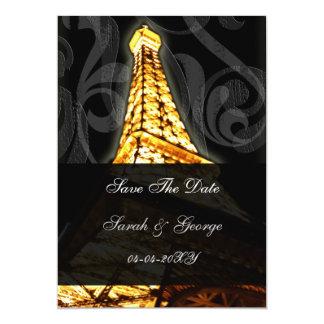 Goldeiffel-Turm französisches wedding Save the Individuelle Einladung