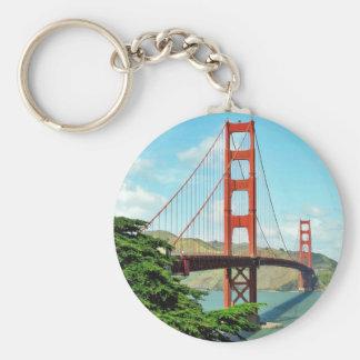 Golden gate bridge in San Francisco Standard Runder Schlüsselanhänger