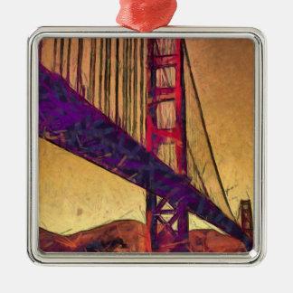 Golden gate bridge silbernes ornament