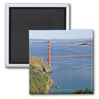 Golden gate bridge und San Francisco. 2 Quadratischer Magnet