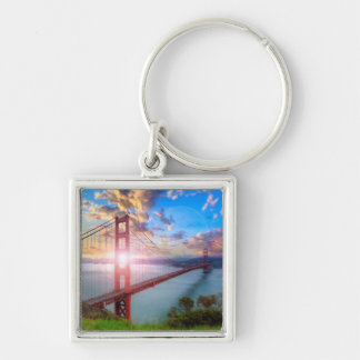 Golden Gate-Sonnenaufgang Schlüsselanhänger