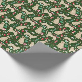 Golden retriever-WeihnachtsPackpapier Geschenkpapier