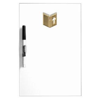 "Goldene ""3-D"" Bibel/Prayerbook/Hymnus Memoboard"