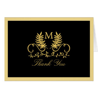 Goldene Blumenemblem-Hochzeit danken Ihnen Karte