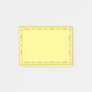 Goldene Dekoration Post-it Klebezettel