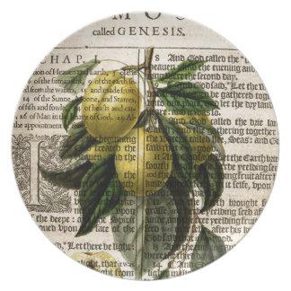 Goldene Esperen Pflaumen-Blume Teller