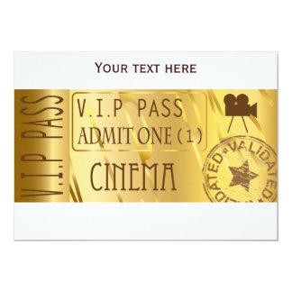 Goldene Filmkarteneinladungen 12,7 X 17,8 Cm Einladungskarte