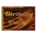 Goldene Geburtstags-Party Einladung
