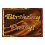 Goldene Geburtstags-Party Einladung 12,7 X 17,8 Cm Einladungskarte