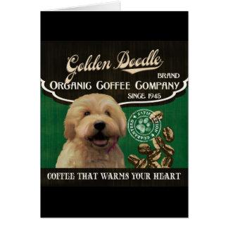Goldene Gekritzel-Marke - Organic Coffee Company Karte