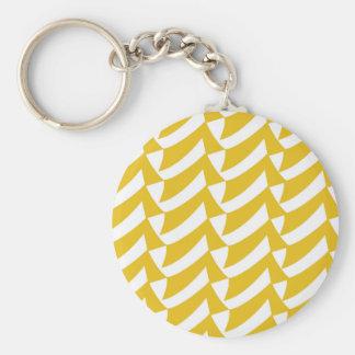 Goldene gelbe Karos Schlüsselanhänger