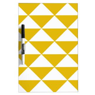 Goldene gelbe und weiße Dreiecke Trockenlöschtafel
