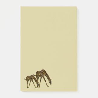 Goldene Giraffe Post-it Haftnotiz