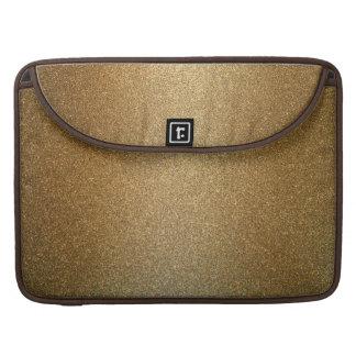 Goldene Glitter-abstrakte Kunst Macbook Prohülse Sleeve Für MacBook Pro