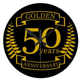 GOLDENE goldene 50 Jahre Hochzeitstag-50 alle Wanduhr