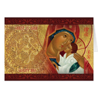 """Goldene helle"" russische orthodoxe Karte"