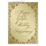 Goldene Hochzeitstag-Gruß-Karte