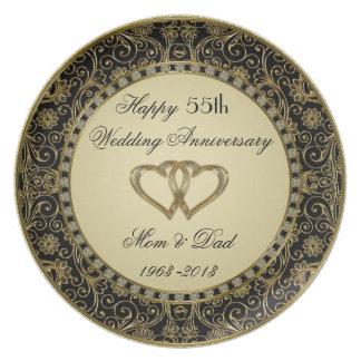 Goldene Hochzeitstag-Platte Party Teller