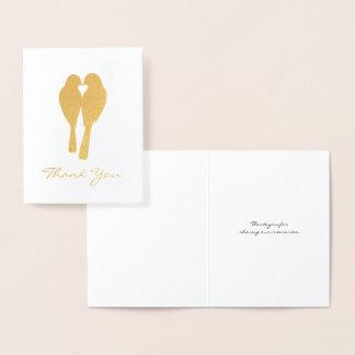 Goldene JahrestagLovebirds danken Ihnen Folienkarte