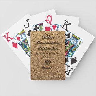 Goldene Jahrestags-Feier-Spielkarten groß Bicycle Spielkarten