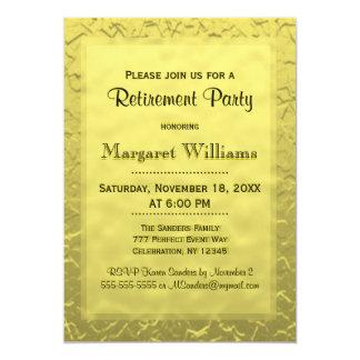 Goldene Karte des Ruhestands-Party-  12,7 X 17,8 Cm Einladungskarte