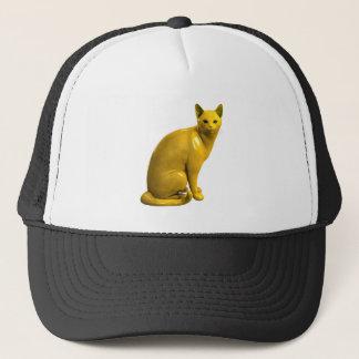 Goldene Katze Truckerkappe