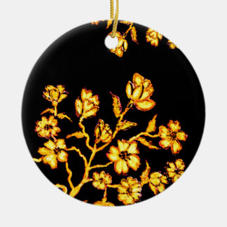 Goldene Kirschblüte-Kunst 2 Keramik Ornament